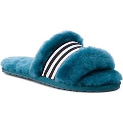 f7a8edbac4af9 Kapcie damskie niebieskie Emu Australia z tworzywa sztucznego casual