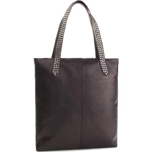 9fda2bdf837c6 Shopper bag Kazar szara ze skóry bez dodatków w Domodi