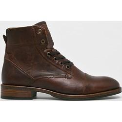 296c8066 Czerwone buty zimowe męskie newyorker sznurówki, wiosna 2019 w Domodi