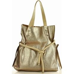 0a686df4320af Mazzini shopper bag na wakacje ze skóry