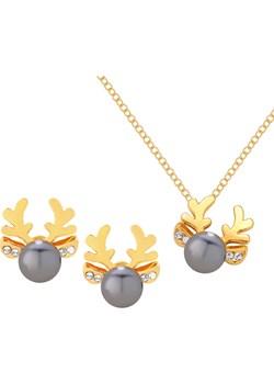 Komplet Biżuterii Reniferki z Perełką  Perlove Biżuteria-Perlove - kod rabatowy