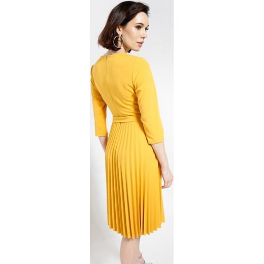 0e6d3d8344 ... Żółta Sukienka Sisters Of Mercy Renee uniwersalny Renee odzież ...