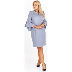 ddb15e0646 Niebieskie sukienki dla puszystych midi