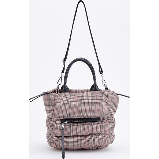 3dc944dc83a9f Reserved - Pikowana torebka w kratę - Czarny Reserved One Size