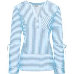 cea101cec061 Niebieskie bluzki koszulowe damskie bodyflirt długi rękaw