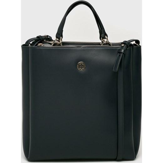 17484a2be08cb Shopper bag Tommy Hilfiger ze skóry ekologicznej w Domodi