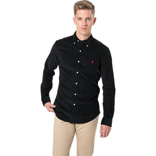 382021ff3d14 ... Koszula męska Polo Ralph Lauren czarna z klasycznym kołnierzykiem  casual ...