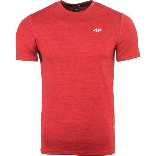 Koszulka funkcyjna męska H4Z18 TSMF001 4F (czerwony melanż) SPORT SHOP.pl
