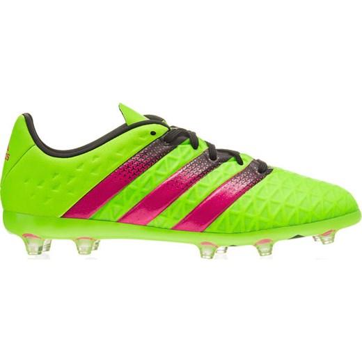Buty piłkarskie korki ACE 16.1 FGAG Junior Adidas (zielono różowe) SPORT SHOP.pl