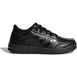 9c8e1d1120ed Buty sportowe damskie Adidas czarne na płaskiej podeszwie letnie