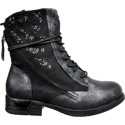 1baaf0b7efdc6 ... Workery damskie Kayla Shoes z aplikacją casual sznurowane ze skóry  ekologicznej na płaskiej podeszwie ...