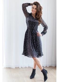 Szyfonowa sukienka w kropki Fenderr   - kod rabatowy