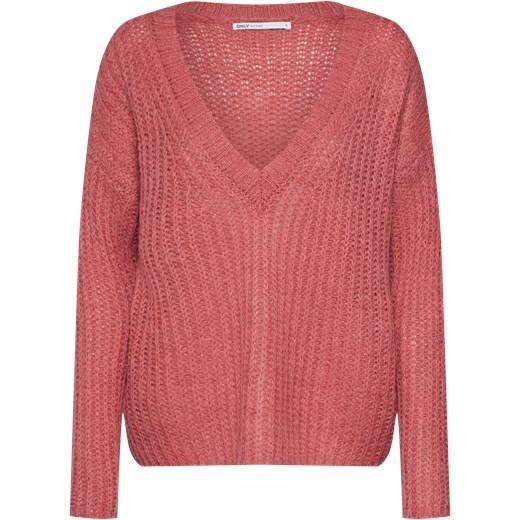 df0d93c3f9c5e8 Sweter damski Only różowy w Domodi