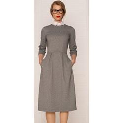 d00eae5628 Sukienka Kasia Miciak Design casual z długim rękawem midi na uczelnię