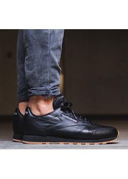 BUTY REEBOK CLASSIC LEATHER 49800 sneakerstudio-pl czarny skóra - kod rabatowy
