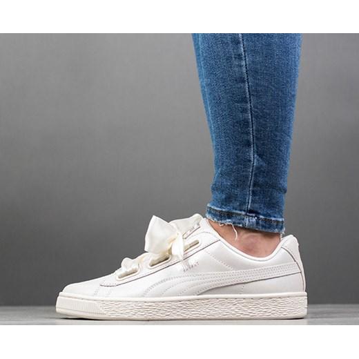 Buty damskie sneakersy Puma Basket Heart Ns Wns 364108 02 bezowy sneakerstudio.pl
