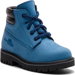 97cc2b96 Buty zimowe dziecięce Renbut niebieskie bez wzorów wiązane