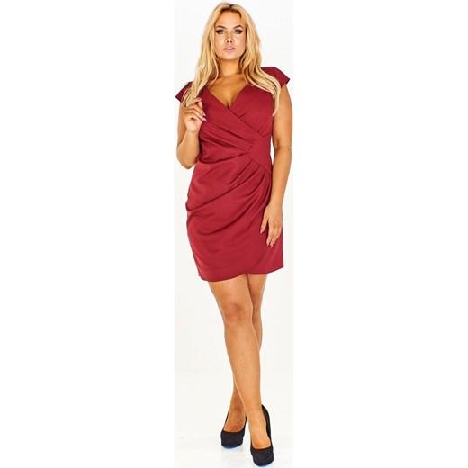 2c4877384e Sukienka Fokus mini dzienna z krótkim rękawem kopertowa w Domodi
