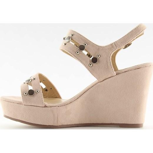 7cedb011 Sandały damskie różowe casual ze skóry ekologicznej na platformie; Sandały  damskie na lato na platformie casual ze skóry ekologicznej ...