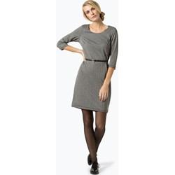 3c192147e2 Sukienka Esprit szara z okrągłym dekoltem midi z długimi rękawami