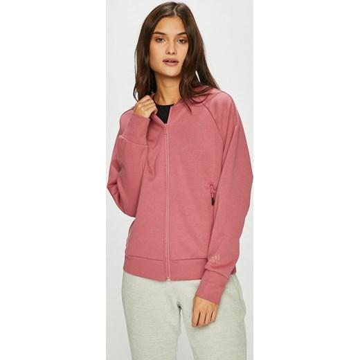 66a0171da4b4e2 Bluza damska Adidas Performance krótka bawełniana młodzieżowa jesienna