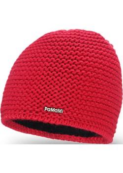 Zimowa czapka damska PaMaMi - Czerwony  Pamami  - kod rabatowy