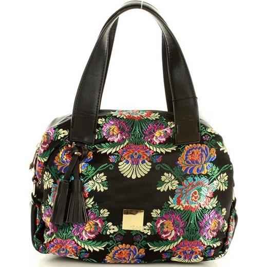 575ecbc3bbd1e0 Shopper bag Nobo z nadrukiem do ręki mieszcząca a8 młodzieżowa w Domodi