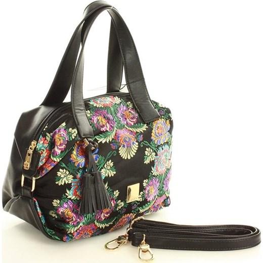 6b73e8873ad1fb ... Shopper bag Nobo młodzieżowa z frędzlami do ręki z nadrukiem mieszcząca  a8 ...