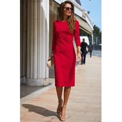 Czerwone Sukienki Zima 2019 W Domodi