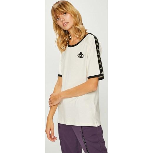 nowa wysoka jakość najlepiej sprzedający się wyprzedaż w sklepie wyprzedażowym Bluzka damska biała Kappa