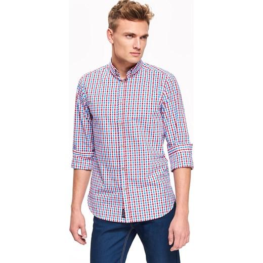 359e5f7ce679cd Koszula męska Top Secret w kratkę z długim rękawem na jesień w Domodi