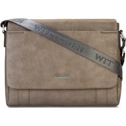 d542bc80c3d74 Torba na laptopa brązowa Wittchen ze skóry ekologicznej
