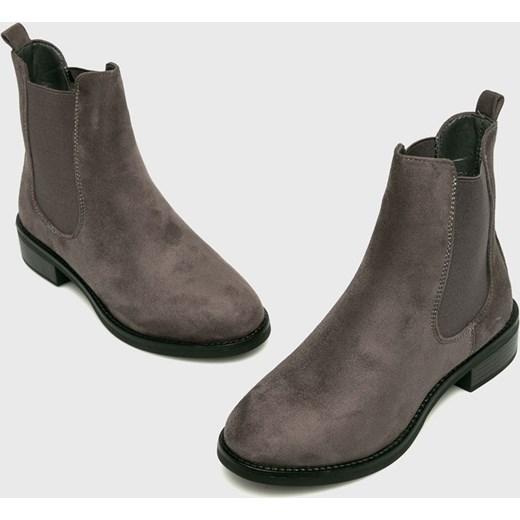 8908b6f54bb3a Botki Answear brązowe bez wzorów casual bez zapięcia w Domodi