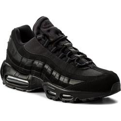 8bea0ef1ac97e2 Buty sportowe męskie czarne Nike ze skóry ekologicznej sznurowane ...