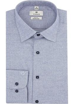 koszula winberg 2484 długi rękaw slim fit niebieski Recman   - kod rabatowy