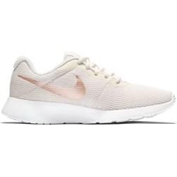 bb47305f7359 Buty sportowe damskie Nike tanjun beżowe płaskie gładkie