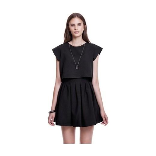 piękny Spódnica Kozacki Mops z tkaniny Odzież Damska MD czarny Spódnice YFLN