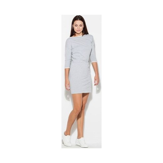 be66dbc730 Sukienka Katrus szara w sportowym stylu z długim rękawem w Domodi