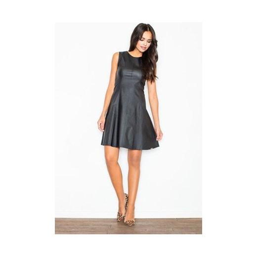 ac23a8efec Sukienka Figl na sylwestra glamour bez rękawów z okrągłym dekoltem w ...