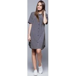 ec42ff4756 Sukienka Harmony midi z kołnierzykiem biznesowa koszulowa