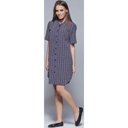 a06659c1c4 Sukienka Harmony midi niebieska dzienna koszulowa