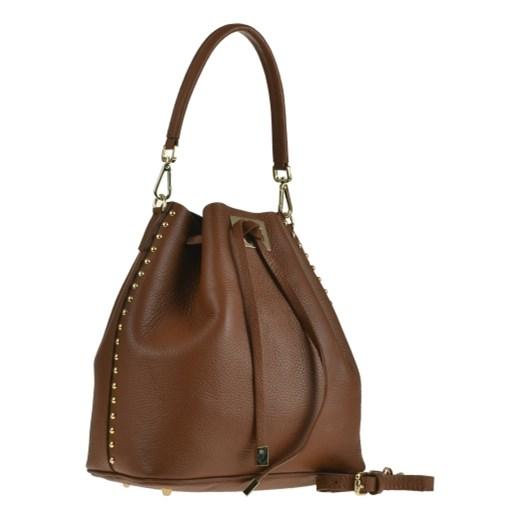5ae4d15816bc4 Torebka Real Leather średnia szara elegancka w Domodi