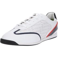 6a2b6701 Buty sportowe męskie białe Boss sznurowane skórzane na wiosnę