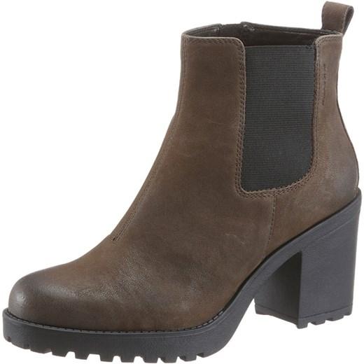 ab8710faf582f Botki Vagabond Shoemakers casual bez wzorów zamszowe z zamkiem w Domodi
