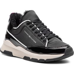0b93bddfbfdc3 Sneakersy damskie Tommy Hilfiger gładkie ze skóry ekologicznej na  platformie młodzieżowe sznurowane ...