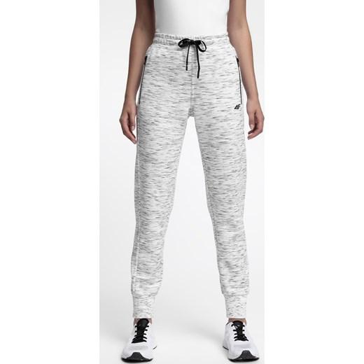 227fe126c4 Spodnie dresowe damskie SPDD210 - chłodny jasny szary melanż 4F w Domodi
