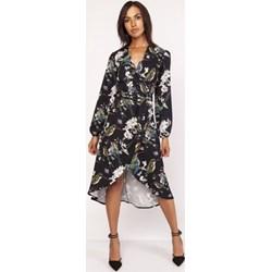 824273537d Wielokolorowe sukienki asymetryczne wyszczuplające