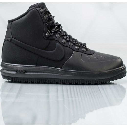 Genialny Buty zimowe męskie Nike czarne sportowe wiązane w Domodi SW97