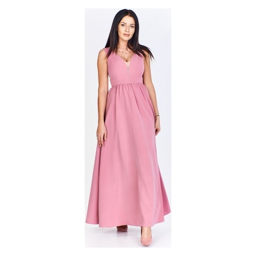 9a3fb71843 Sukienka Mally różowa maxi w Domodi