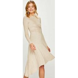 e0a97f641f Sukienka Answear midi dzianinowa na spacer z długimi rękawami